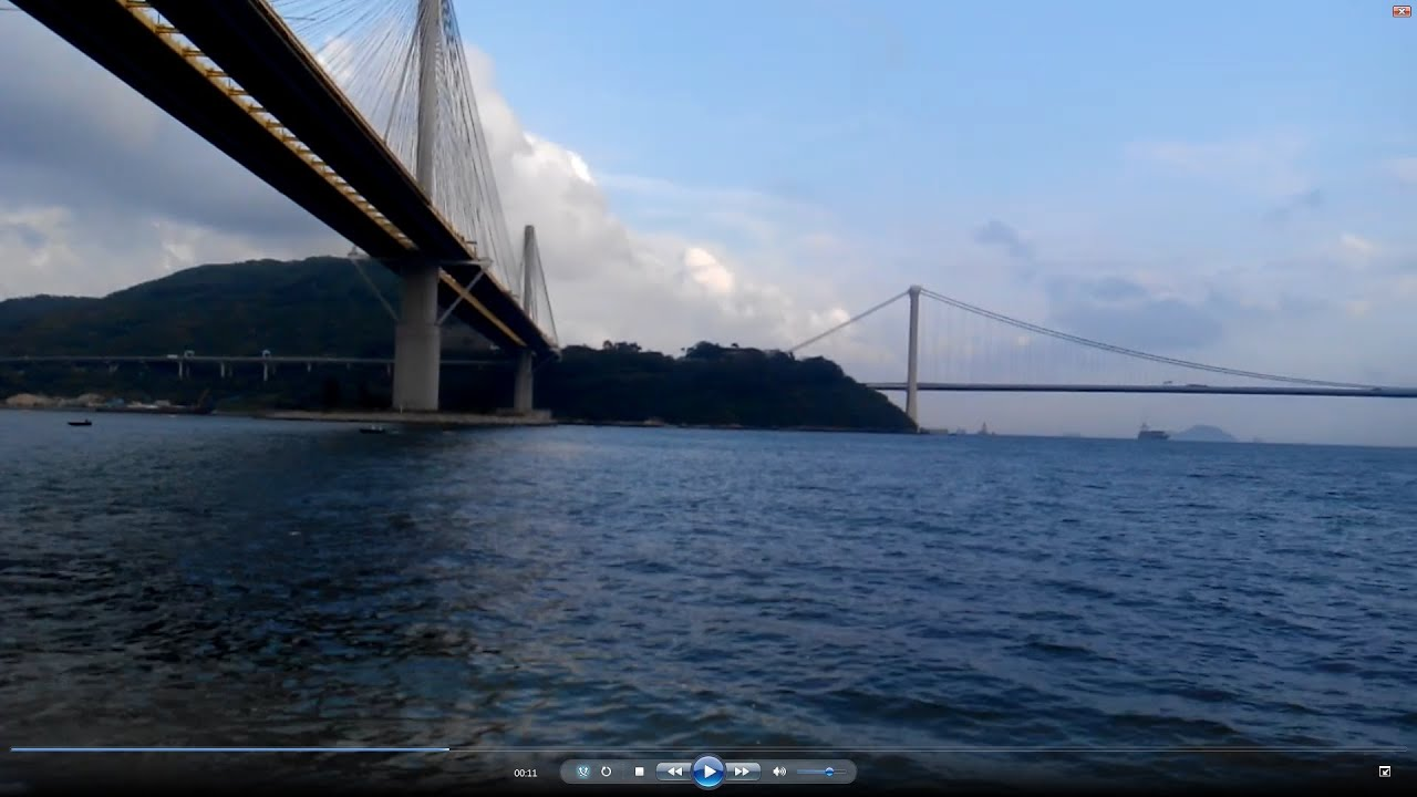 香港旅遊 / 好景點 (31) 麗都灣 Lido Beach 青馬大橋 汀九橋 更生灣 近水灣 海美灣 香港帝景酒店 - YouTube