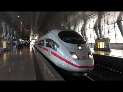 [DB] ICE to Duisburg departs Frankfurt Airport Station.
