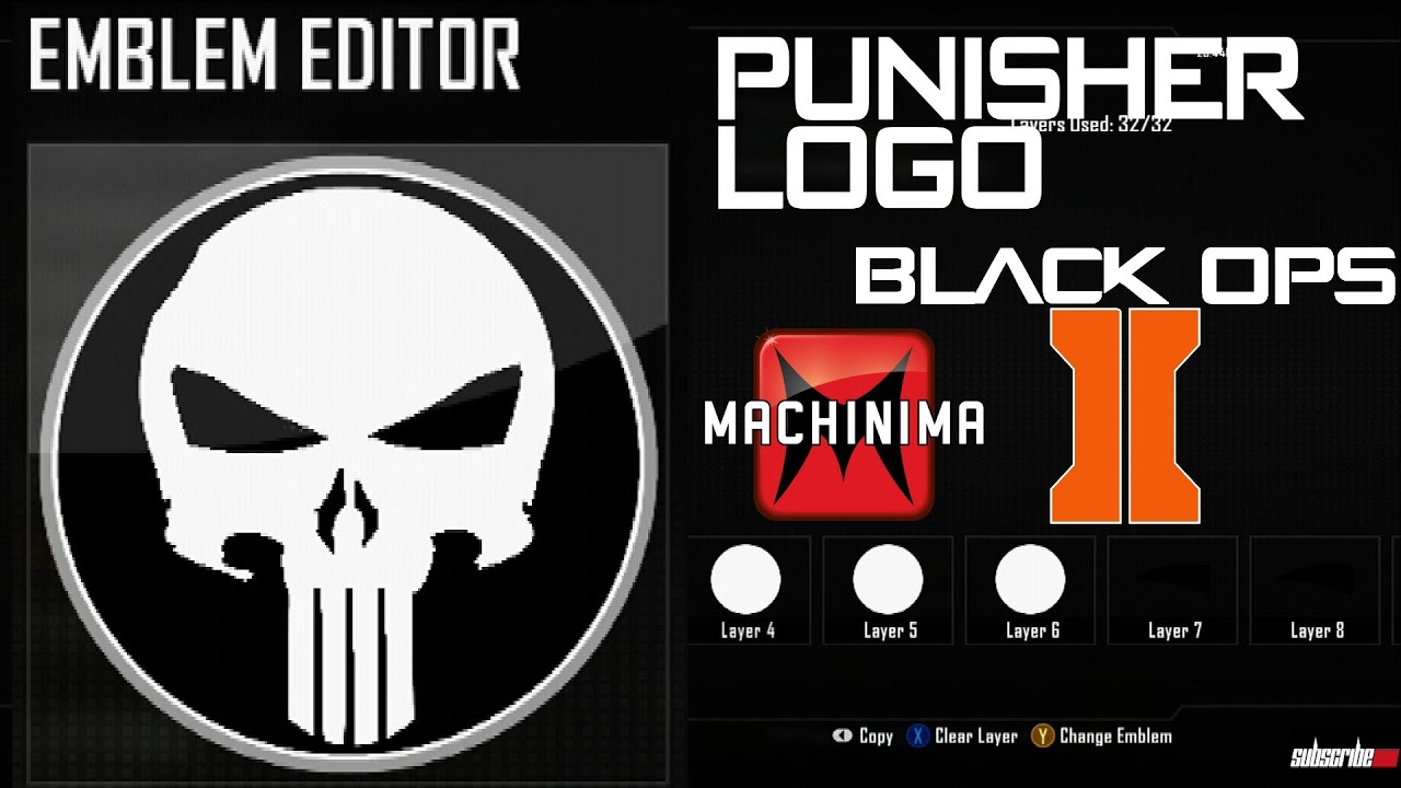 Black Ops 2 - Punisher Best Logo Emblem Tutorial ( Marvel ...
