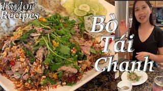 Độc chiêu món ăn chơi bò tái chanh ngon khó cưỡng - Rare beef in lime juice - Taylor - Cuộc sống Mỹ