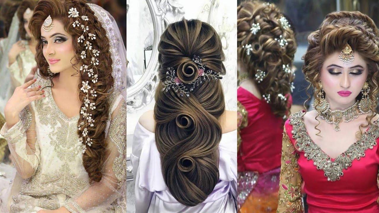 Stylish Bridal Hairstyle Designs Ideas 2020-2021 - YouTube