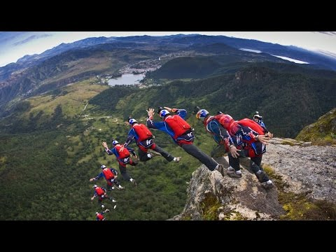 74 Seconds of Stomach Dropping Freefall  BASE Jumping Compilation