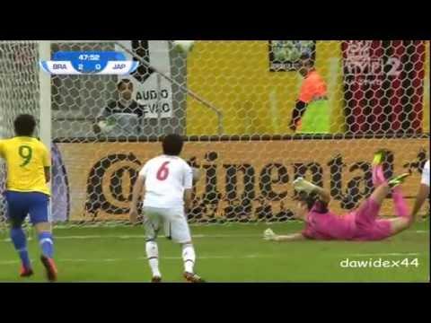 Brazylia vs Japonia gol Paulinho 15 09 2013