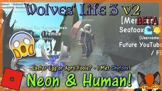 Roblox-vida dos lobos 3 v2 BETA-Neon & Human! #44-HD