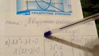 518 Квадратные уравнения и его корни. Решение уравнений алгебра 8 класс