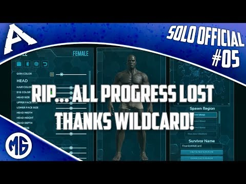 RIP - ALL PROGRESS LOST, THANKS WILDCARD! Solo Official PvP Ep 5 - Ark: Survival Evolved