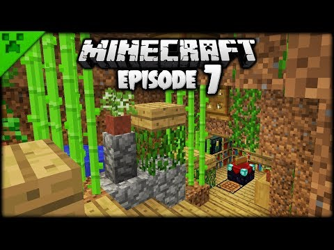 ENCHANTING A Minecraft Cave!  Python's World Minecraft Survival Let's Play  Episode 7