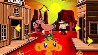 Monkey GO Happy Western Fast Walkthrough