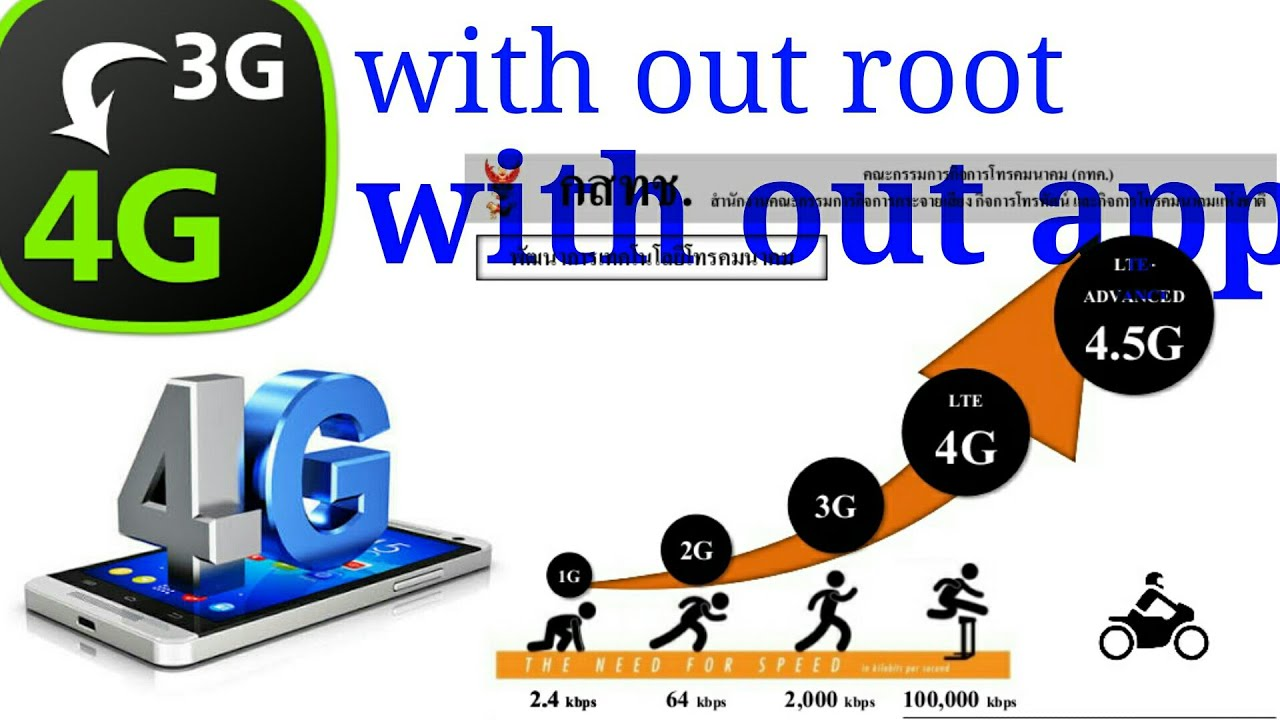 How to convert 3g mobile to 4g with out Root with out app just one minute