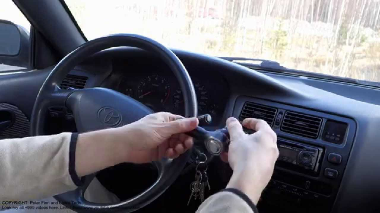 How To Adjust Steering Wheel Position Toyota Corolla  Tie