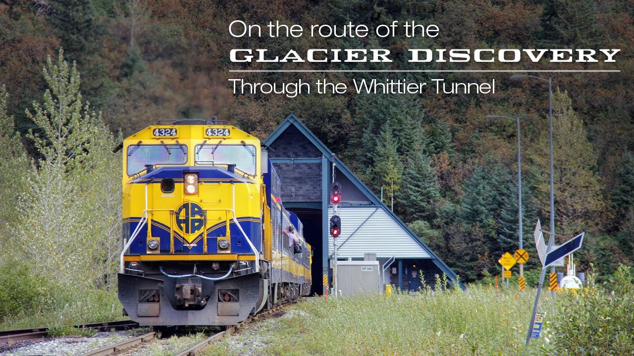 Riding the Alaska Railroad to Whittier - on the route of the Glacier  Discovery