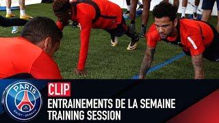 Training session - entrainements de la semaine with dani alves, marquinhos