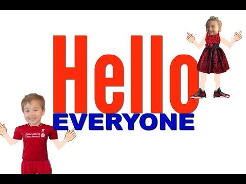 Hello Everyone!  (in class gestures video)-  Easy Kids Songs