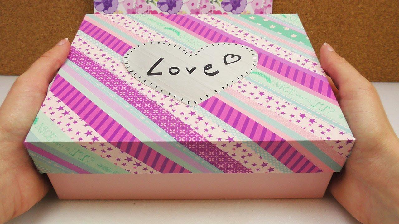 diy glossybox versch nern mit washi tape box deko f r. Black Bedroom Furniture Sets. Home Design Ideas