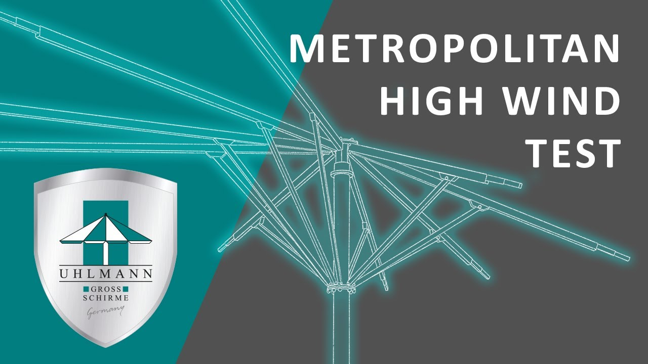uhlmann umbrellas metropolitan high wind test youtube. Black Bedroom Furniture Sets. Home Design Ideas
