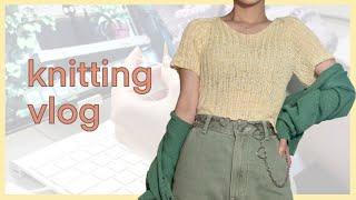 knitting vlog l 은긍 작업실- 탑다운 브이…