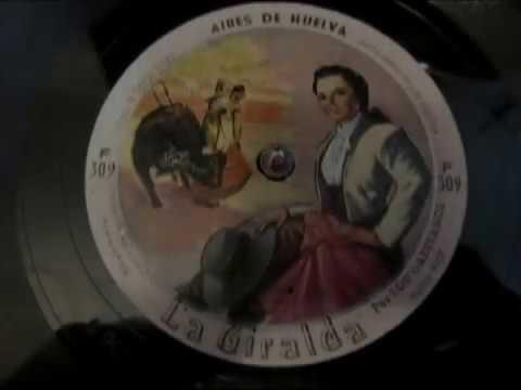 Flamenco  - 78 RPM - La Giralda - Aires de Huelva  - HMV 102