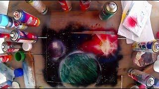 O espaço - Speed Drawing - SPRAY PAINT ART - by h.s