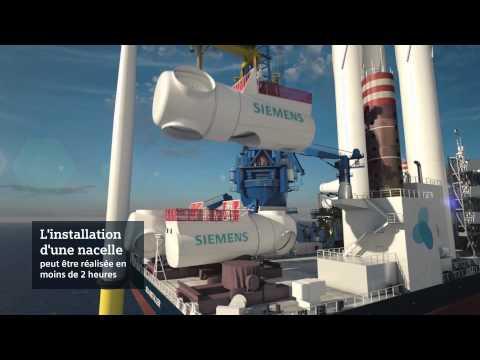 Energie éolienne offshore. Comment une éolienne est-elle assemblée en mer?