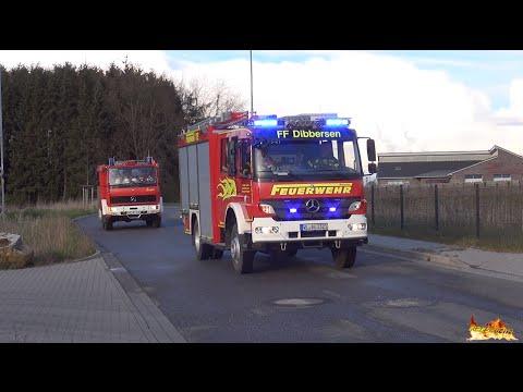 [Alle Fahrzeuge mit Horn] Alarmfahrt des Wassertransportzuges der Feuerwehren Landkreis Harburg