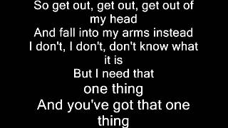 One Direction - One Thing ( MattyBraps) Lyrics