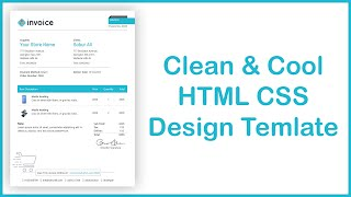 $+$ Create a Awesome Invoice Template Using HTML & CSS