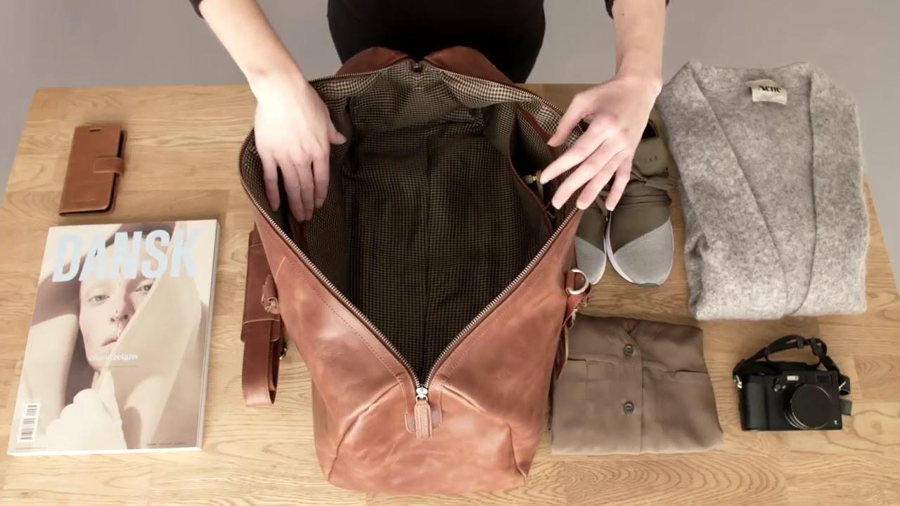 9b3383b903 Kožená cestovní taška dbramante1928 Kastrup 2 Weekender Bag - YouTube
