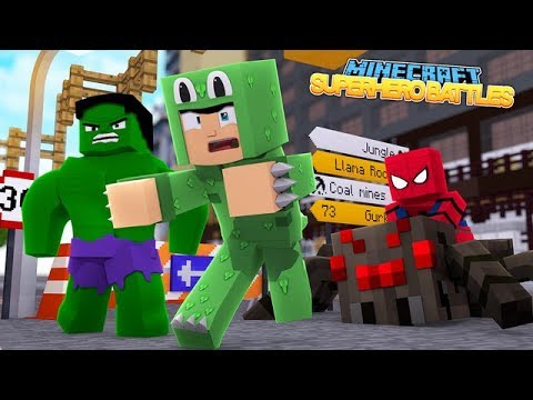 SPIDER-MAN HOMECOMING NOOB VS PRO - MINECRAFT SUPERHERO BATTLES w/ Little Lizard