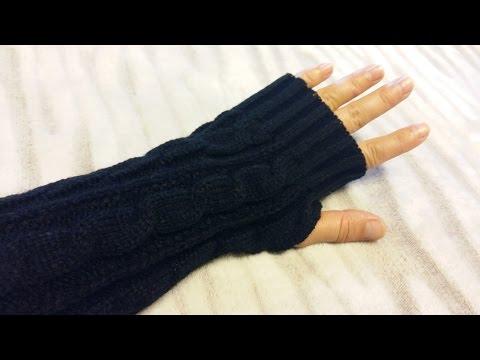 Длинные теплые вязаные перчатки Aliexpress