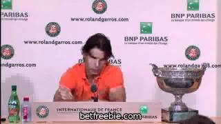 MUST SEE Roland Garros 2011   Final   Rafael Nadal post match Interview