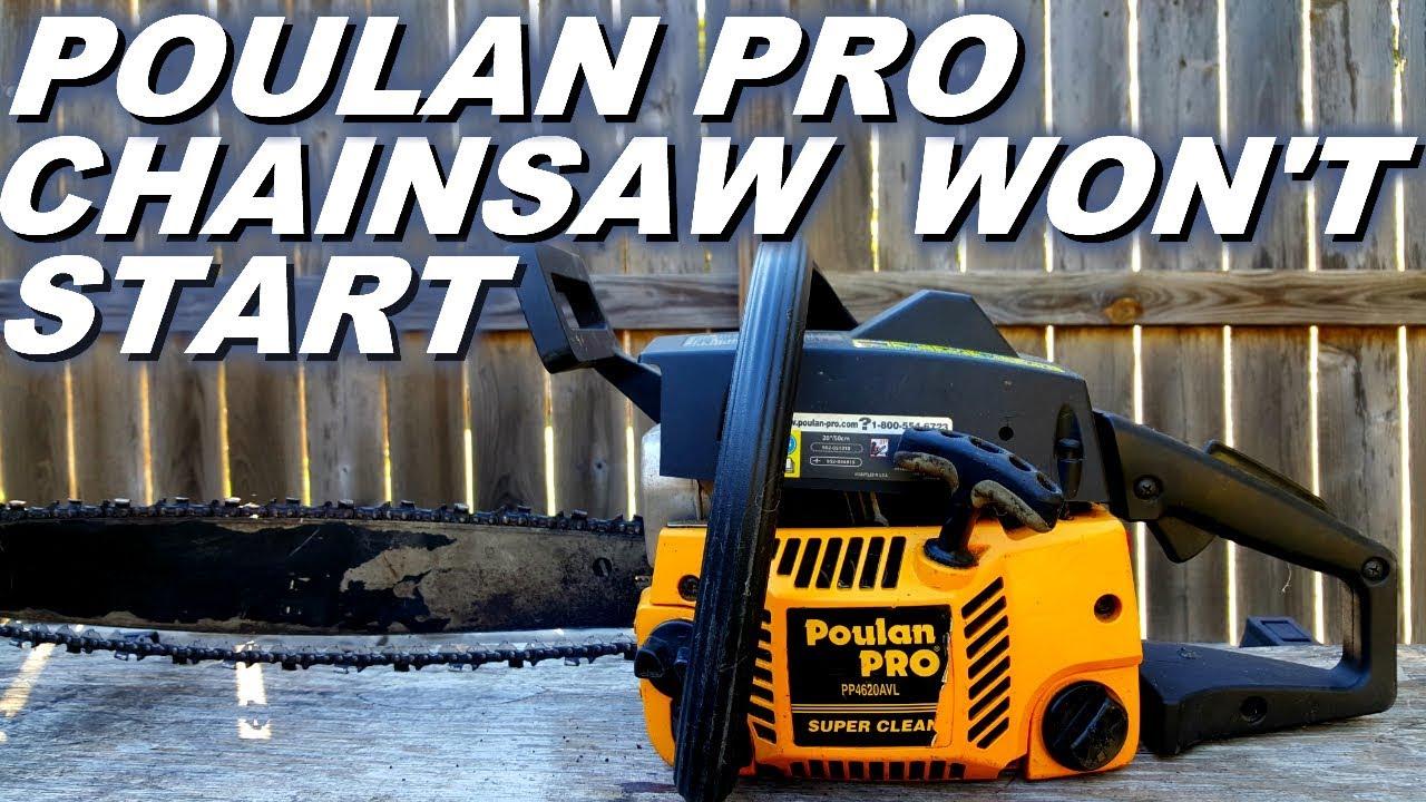 Poulan Pro chainsaw won't start