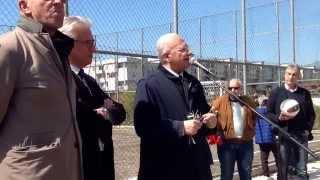 Salerno, inaugurato campetto calcio Sant'Esutachio, intervento Vincenzo De Luca