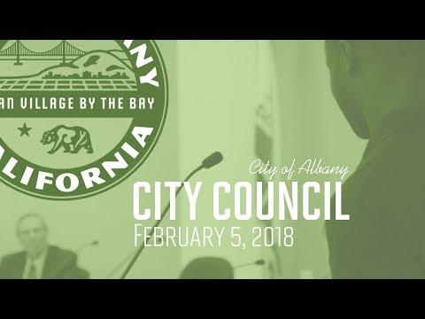 Albany City Council - Feb. 5, 2018