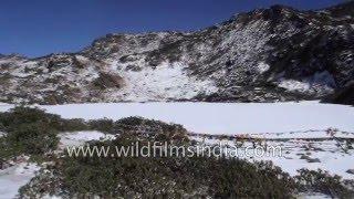 High altitude Nagula Lake in Tawang, Arunachal Pradesh, India