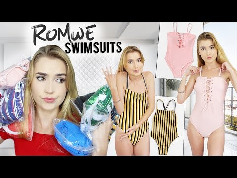 TRYING ROMWE SWIMSUITS!! | Worth Your Money??
