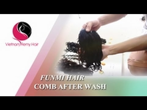 Video Tutorial| How to Comb Funmi Hair Extensions After Wash to Best