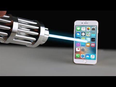 Der stärkste Laser auf YouTube VS iPhone 7 - Experiment