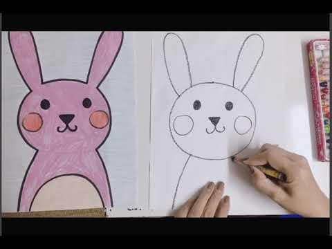 Bé học vẽ con thỏ   Tất tần tật các thông tin nói về hinh ve nguoi don gian đúng nhất