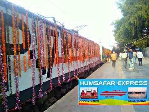 [First Coverage] Inaugural Run Allahabad Humasafar Express (Shunting + Arrival + Grand Departer)!!