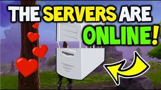 SERVERS ARE DOWN BUT I'M ONLINE! - FORTNITE *SERVER UPDATE* - How to get online & why they are Down!
