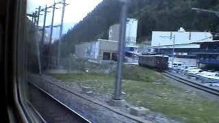 Europe Rail 2002 BLS Lötschenpass Südrampe  ABDe 4/8 Regionalzug  4931 Goppenstein-Hohtenn Ae8/8
