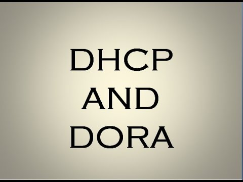Dhcp And Dora Process Explained Youtube