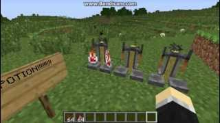 How to make invisible potion 1.7.4 in Minecraft