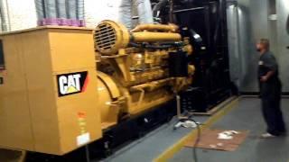 Russ Diesel 2000 KW Cat generator start up