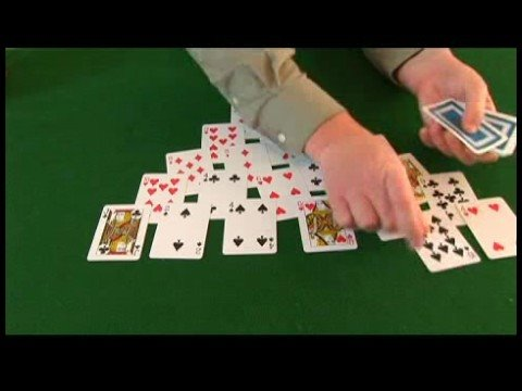How To Play Pyramid Solitaire Pyramid Solitaire Sample Hand 1