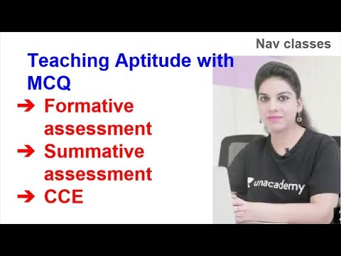 Teaching Aptitude   Formative, Summative Assessment, CCE