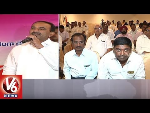 Minister Etela Rajender Holds Review Meeting With Contractors And Officials Over Double Bedroom | V6