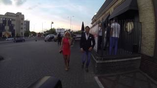 Danielle Armstrong and James Lockie leaving the brickyard in romford essex towie