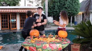 AGGRESSIVE PUMPKIN CARVING! | ScottySire Video