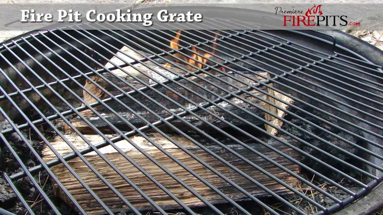 Fire Pit Cooking Grate by Premiere Fire Pits - YouTube